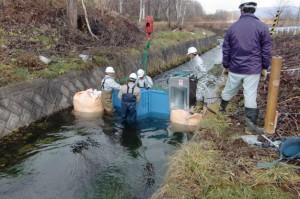 喜茂別町 目名川 マイクロ水力発電1
