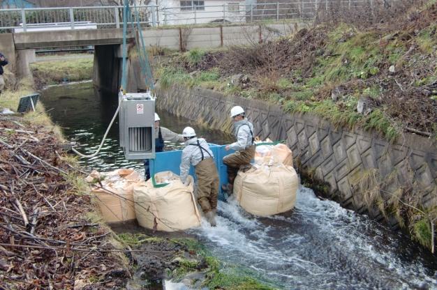 喜茂別町 目名川 マイクロ水力発電3