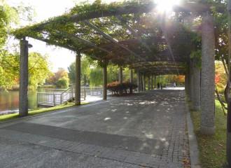 札幌市 中島公園 パーゴラ