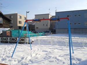 雪に備えた公園施設